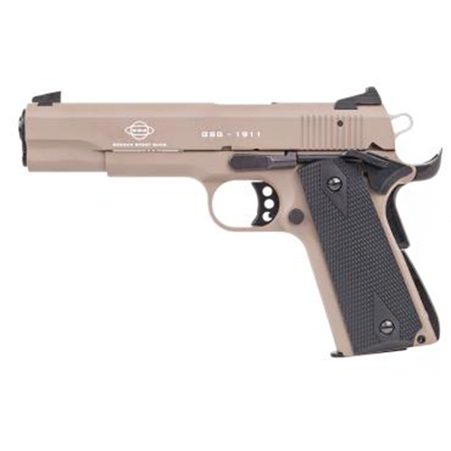 GSG German Sports Guns 2210M1911T GSG 1911 Single 22 Long Rifle (LR) 5 10+1 Walnut Grip Tan in.