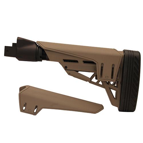 Advanced Technology Intl Saiga TactLite Elite Six Position Adjustable Stock with Scorpion Recoil Pad Flat Dark Earth