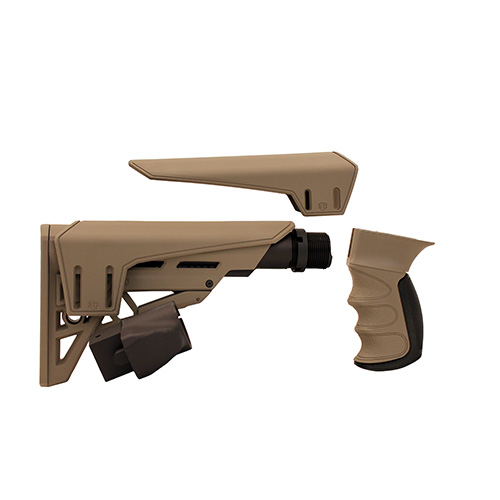 Advanced Technology Saiga TactLite Elite Six Position Adjustable Stock Flat Dark Earth With Scorpion Recoil System
