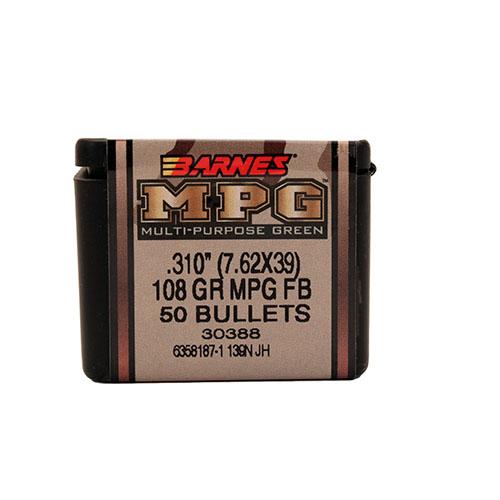 Barnes Bullets 30388 Rifle MPG Frangible 7.62X39 .310 108 GR Multi-Purpose Green 50 Box