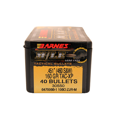 Barnes Bullets 45106 .451 160 TacticalXp 40