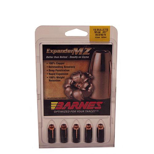 Barnes 30564 Muzzleloader 50 Black Powder Expander MZ 250 GR 15Pk