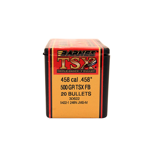 Barnes Bullets 30622 Rifle 458 Caliber .458 500 GR TSX FB 20 Box