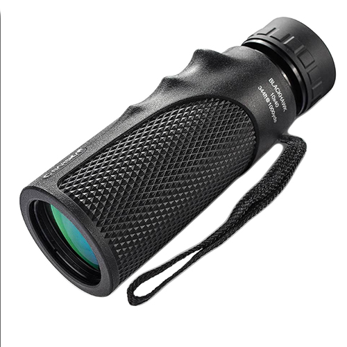 Barska Optics 10x40 Blackhawk Monocular,BK7,Green Lens