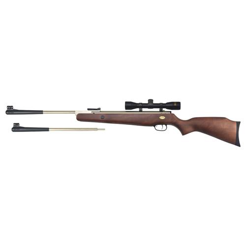 Beeman Marksman Silver Kodiak X2 Dual Caliber Break Barrel Air Gun Rifle Combo Wood .177 air   22 air with 4x32mm Scope