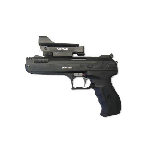 Beeman 2006 P17 Deluxe Pellet Pistol with Red Dot Air Pistol Pump Air .177 Pellet 1 rd Black Polymer Frame Blued Aluminum Slide