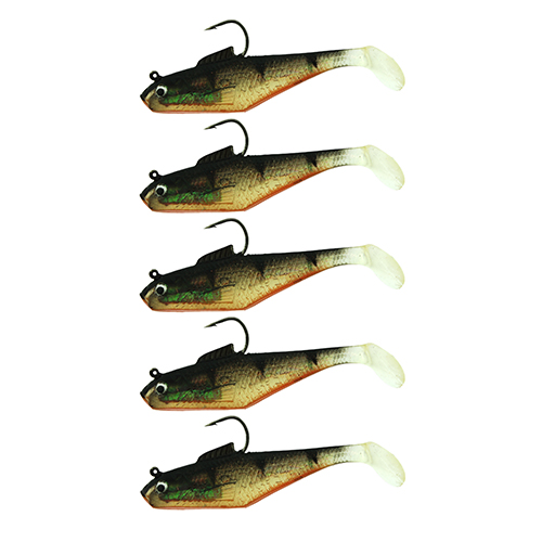 Berkley 1307685 PowerBait Swim Shad Soft Bait 3 in.  Length, Perch, Per 5