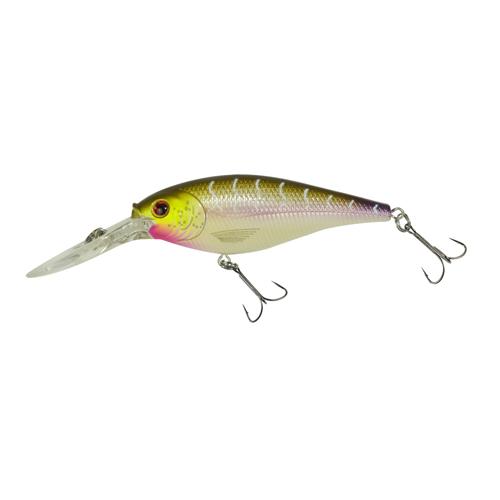 Berkley 1316739 Flicker Shad Hard Bait 3 1|2 in.  Length, 11'-13' Swimming Depth, 2 Hooks, Purple Tiger, Per 1