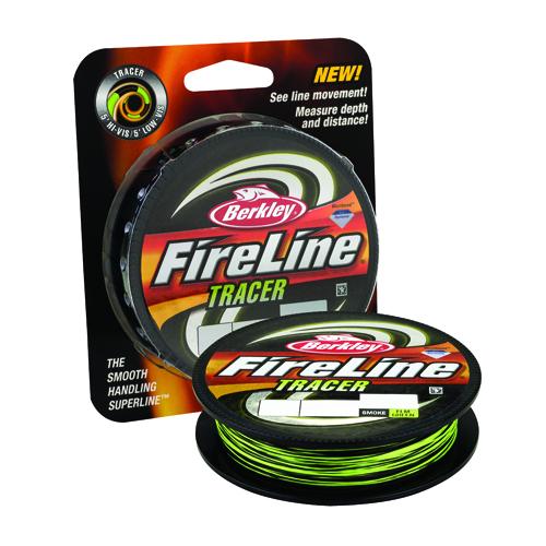 Berkley 1343899 FireLine Fused Tracer Superline Line Spool 300 Yards, 0.015 in.  Diameter, 30 lb Breaking Strength, Smoke|Flame Green