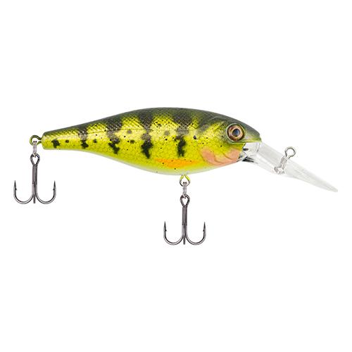 Berkley 1375356 Bad Shad Hard Bait 2 in.  Length, 5-7' Swimming Depth, 2 Hooks, Yellow Perch, Per 1