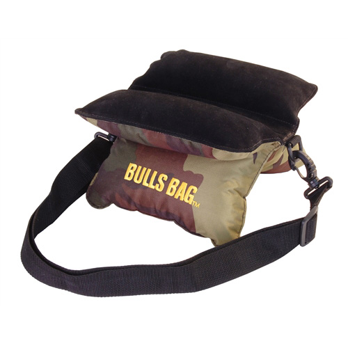 Uncle Buds Bulls Bag Field Camo Polyester|Suede Bag|CS (10&quot) Woodland Camo