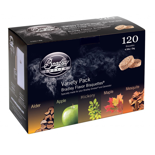 Bradley Smoker Bradley Flavor Bisquettes Variety Pack - 120 pack