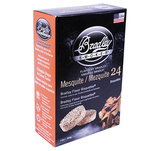 Bradley Technologies BTMQ24 Smoker Bisquettes Mesquite 24 Pack