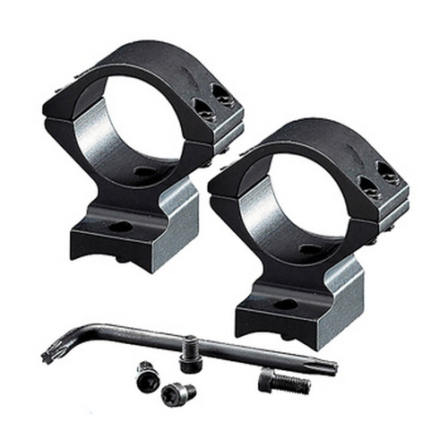 Browning A-Bolt Integral Mounting System Base|Rings 1&quot Standard Low Aluminum Matte Black