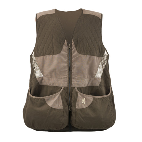 Browning Mens Summit Vest, Chocolate|Taupe Small