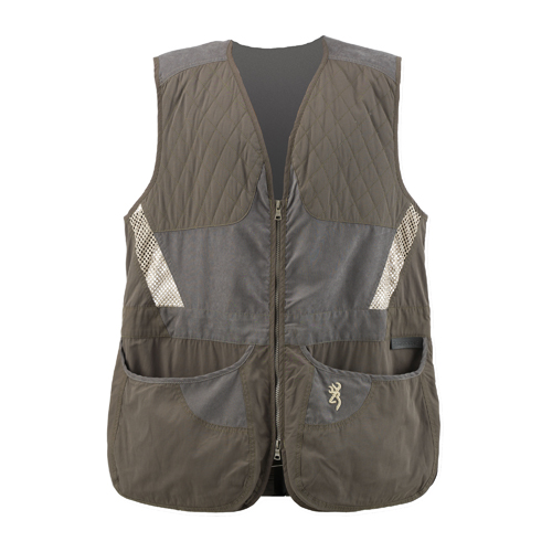 Browning Mens Summit Vest, Green|Dark Grey X-Large