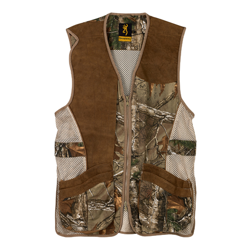 Browning Crossover Vest, Realtree Xtra|Leather Small