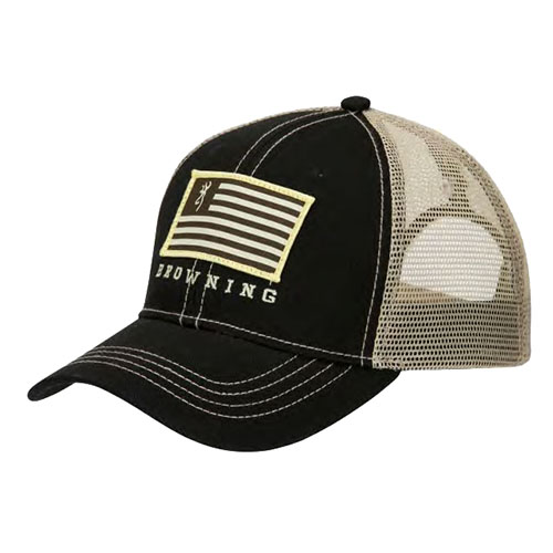 Browning Patriot Cap Black|Tan One Size Fits Most