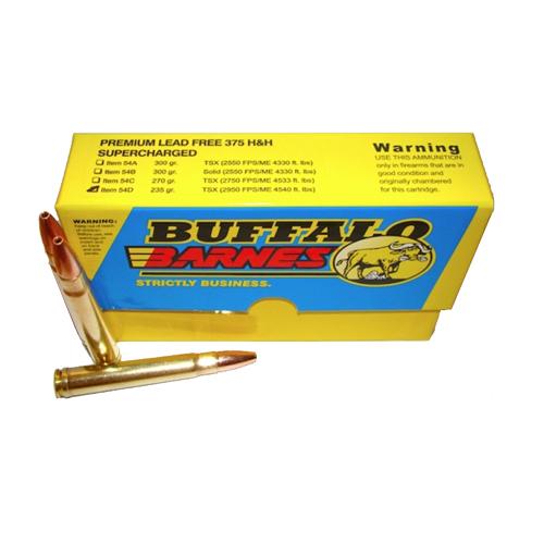 Buffalo Bore Ammo 54D 20 Rifle 375 H&H Mag Barnes TSX 235 GR 20Box 12Case