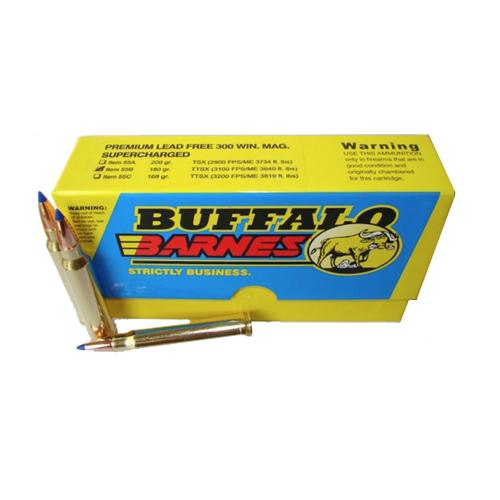 Buffalo Bore 55B 20 Rifle 300 Win Mag Barnes Tipped TSX BT 180 GR 20Box 12Cs