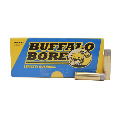 Buffalo Bore Ammo 18B|20 Handgun 500 S&W Lead Flat Nose 440 GR 20Box|12Case