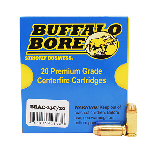Buffalo Bore Ammunition Hvy 40S and W+P 180gr FMJ-FN |20