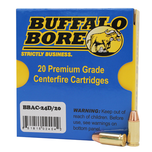 Buffalo Bore Ammunition 24D|20 9mm Luger +P 115 GR JHP 20 Bx| 12 Cs