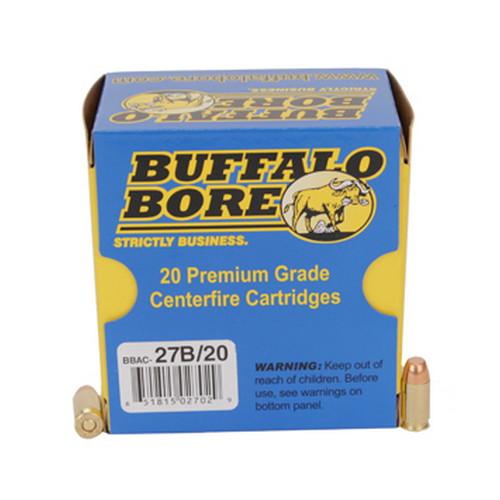 Buffalo Bore Ammunition 27B|20 380ACP +P FMJ|Flat Nose 95GR 20Box|12Case