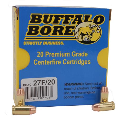 Buffalo Bore Ammunition 27F|20 380ACP 95GR FMJ|Flat Nose 20Box|12Case