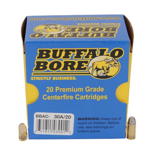 Buffalo Bore Ammunition 30A|20 32 ACP +P 75 GR Hard Cast Flat Nose 20 Bx| 12 Cs
