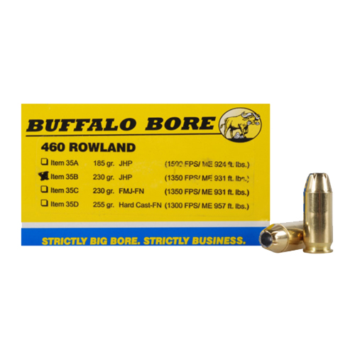 Buffalo Bore Ammunition 35B|20 460 Rowland 230 GR Jacketed Hollow Point 20 Bx| 12 Cs