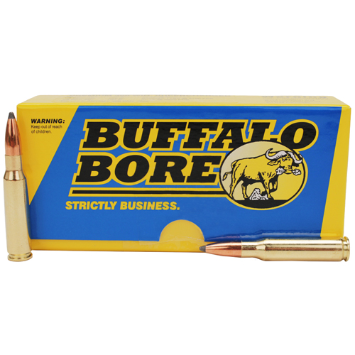 Buffalo Bore Ammo 39A|20 Rifle 308|7.62 Spitzer Supercharged 150 GR 20Box|12Case