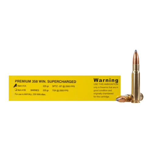 Buffalo Bore Ammo 41A 20 Rifle 358 Win Spitzer BT 225 GR 20Box 12Case