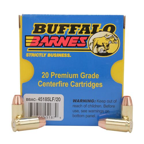 Buffalo Bore Ammo 45-185LF|20 45 ACP +P Lead-Free Barnes TAC-XP 185GR 20Box|12Cs