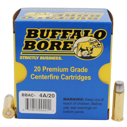 Buffalo Bore Ammo 4A|20 Handgun 44 Rem Mag Hard Cast FN 305 GR 20Box|12Case