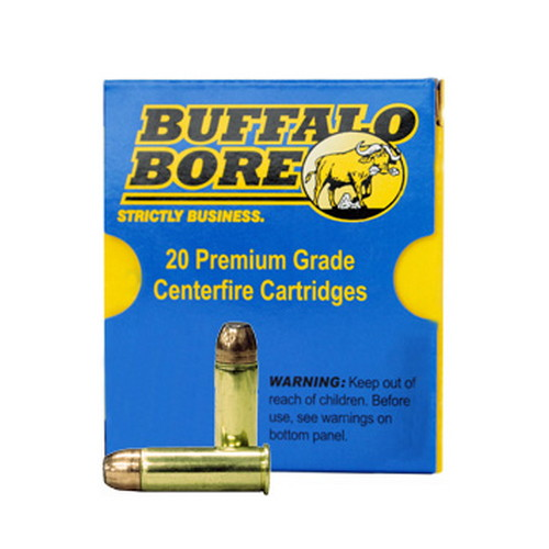 Buffalo Bore Ammo 4B|20 Handgun 44 Rem Mag Jacketed FN 300 GR 20Box|12Case