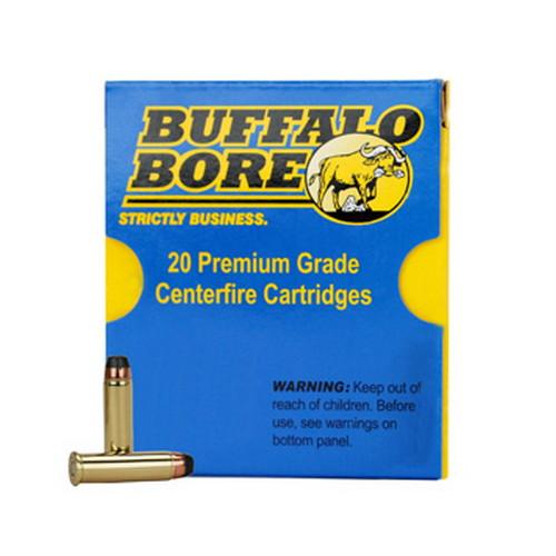 Buffalo Bore Ammunition 4E|20 Handgun 44 Rem Mag Hard Cast 255 GR 20Box|12Case