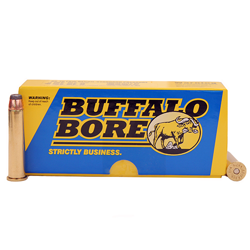 Buffalo Bore Ammunition 8J|20 45-70 Low Recoil Standard Pressure 350 Grains, Jacketed Flat Nose JFN, (Per 20)