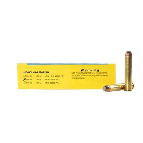 Buffalo Bore Ammo 9B 20 Rifle 444 Marlin JFN 300 GR 20Box 12Case