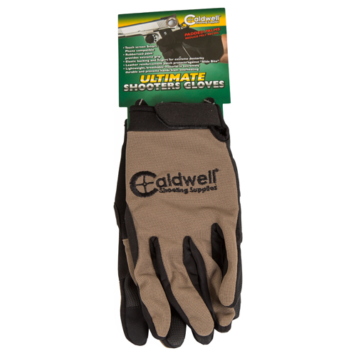 Caldwell 151294 Ultimate Shooters Gloves LG/XL Tan