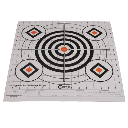 Caldwell Sight-In Target 16-inch (Per 10) Black and Orange