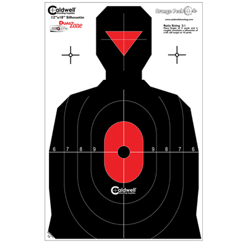 Caldwell Silhouette Dual Zone Target 25 Pack