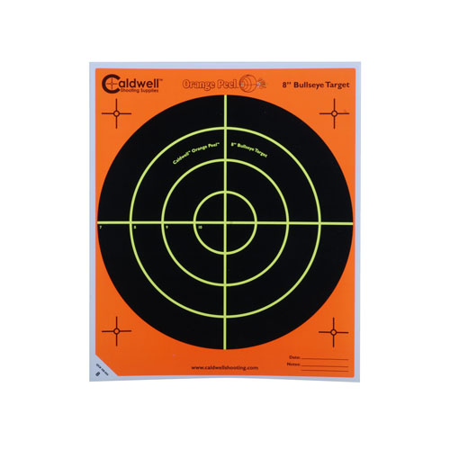 Caldwell Peel 8-inch Bulls-eye: 100 sheets