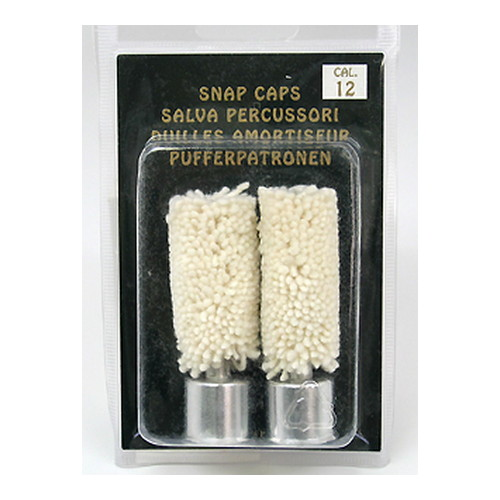 Carlsons 00105 Snap Cap Wool 12 Gauge Wool w|Metal Base 2 Pack