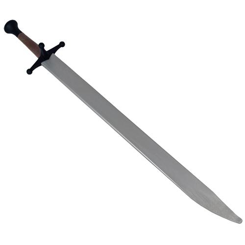 CAS Hanwei PR9052 Complete Messer Silver Blade, Black Guard, Brown Handle