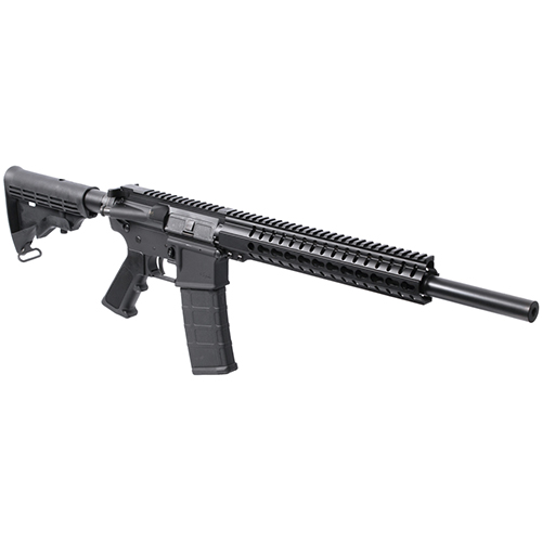 CMMG 55AACF1 Mk4 B16 Semi-Automatic 223 Remington|5.56 NATO 16 30+1 6-Position Black Stk Black Nitride in.