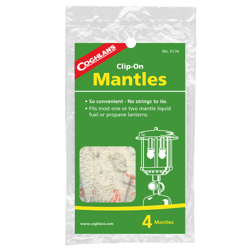 Coghlans 0134 Mantle Replacements Clip-On (Per 4)