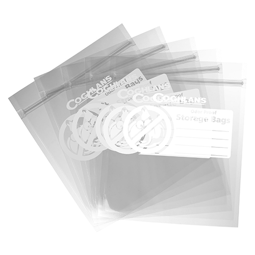 Coghlans Odor Proof Storage Bags 8.50&quot, x 10&quot,, Clear