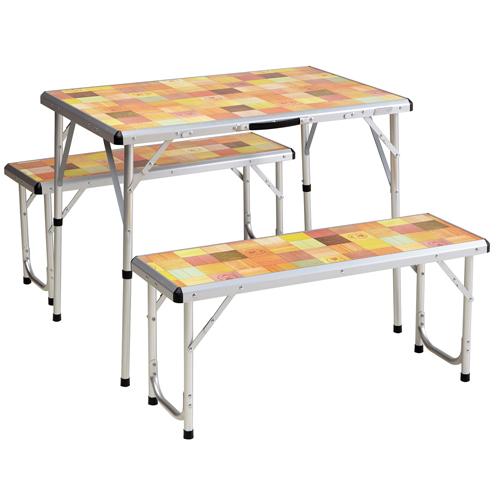 Coleman Table Packaway Picnic Set Mosaic