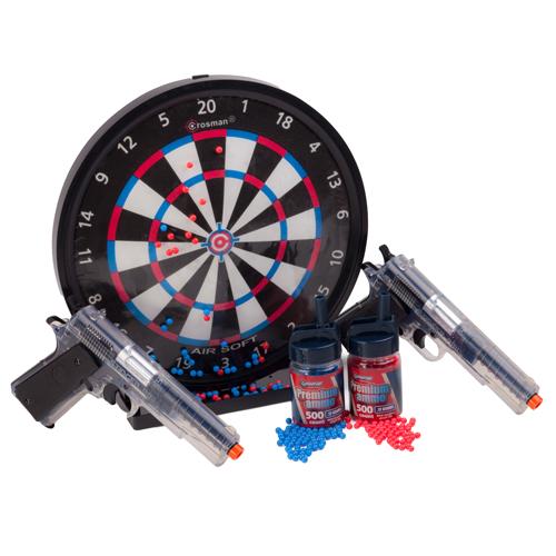 Crosman ASP311CDK Stinger Challenge Kit  2 Pistol w|Trgt 500 Rd+500 Blue BBs